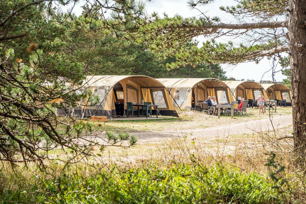 Camping Loodsmansduin, ingerichte tenten