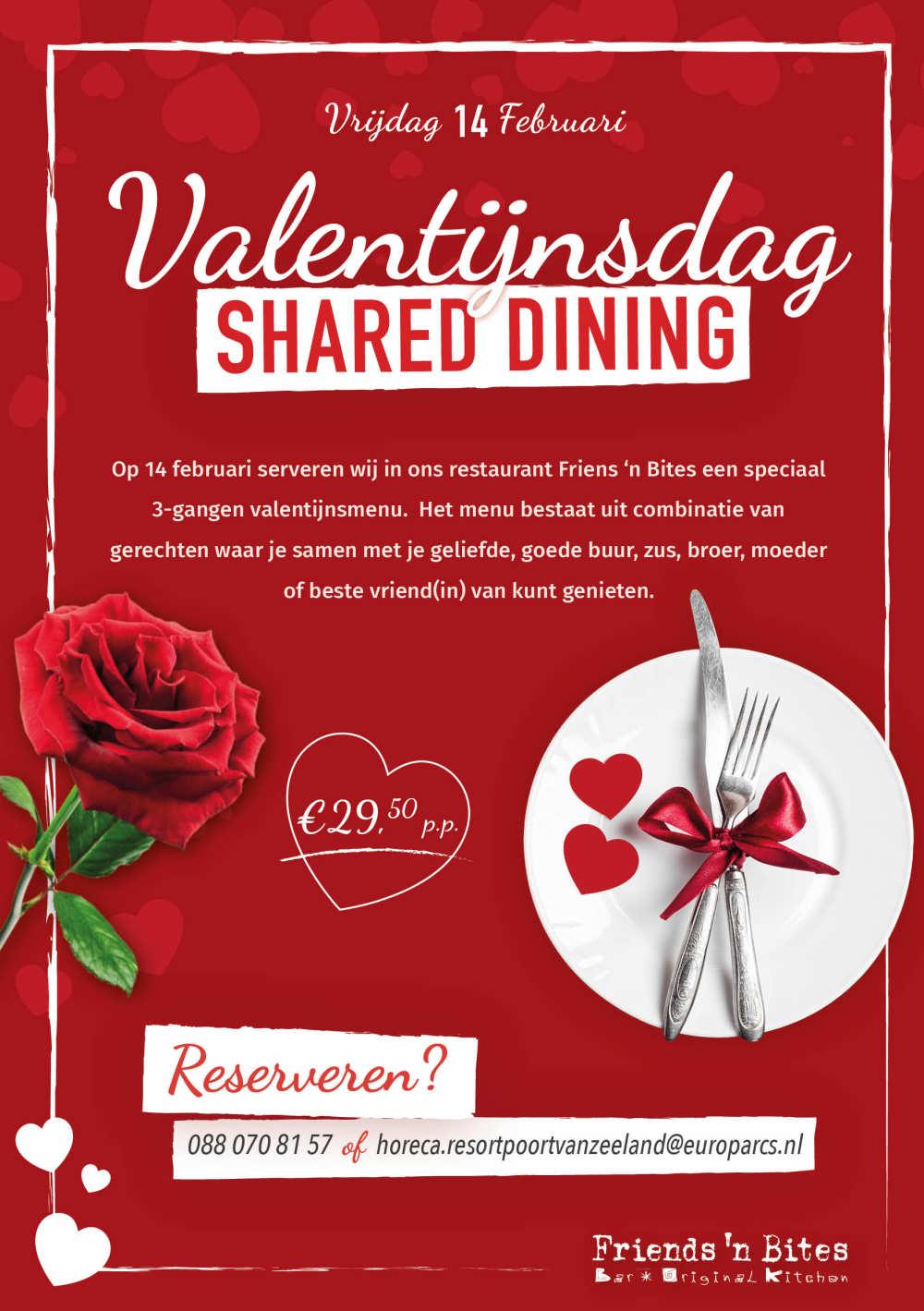 Valentine menu Resort Poort van Zeeland