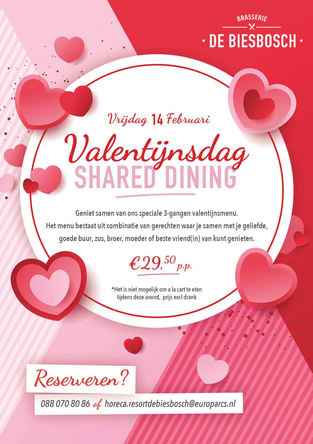 Valentijn menu Resort De Biesbosch