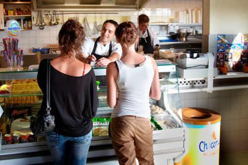 Cafetaria op Camping Kogerstrand