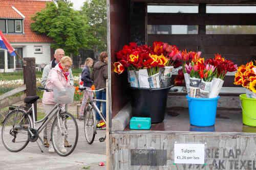 Fietsen op Texel, kraampje